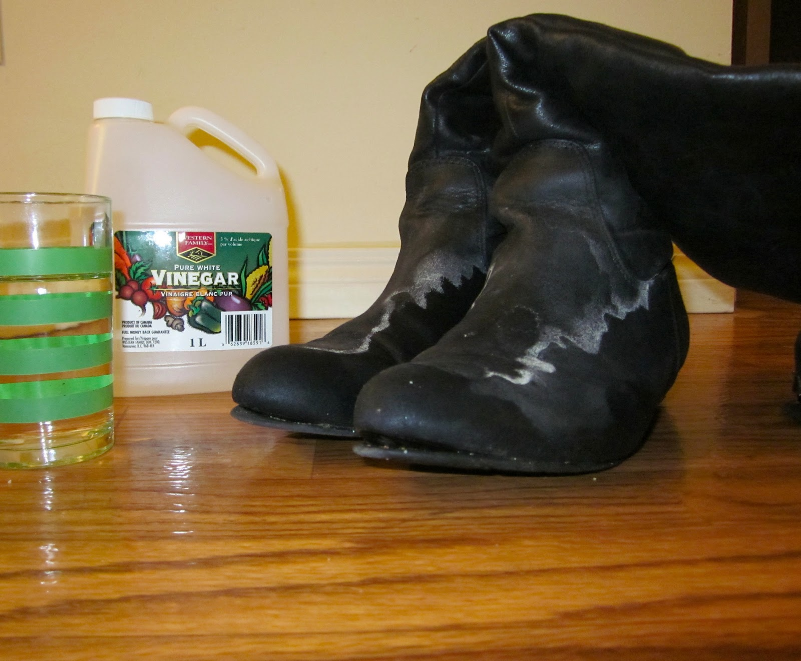 how to get salt stains out of faux suede boots