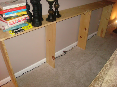 Make a sofa table for under 20 For real from Thrifty Decor Chick