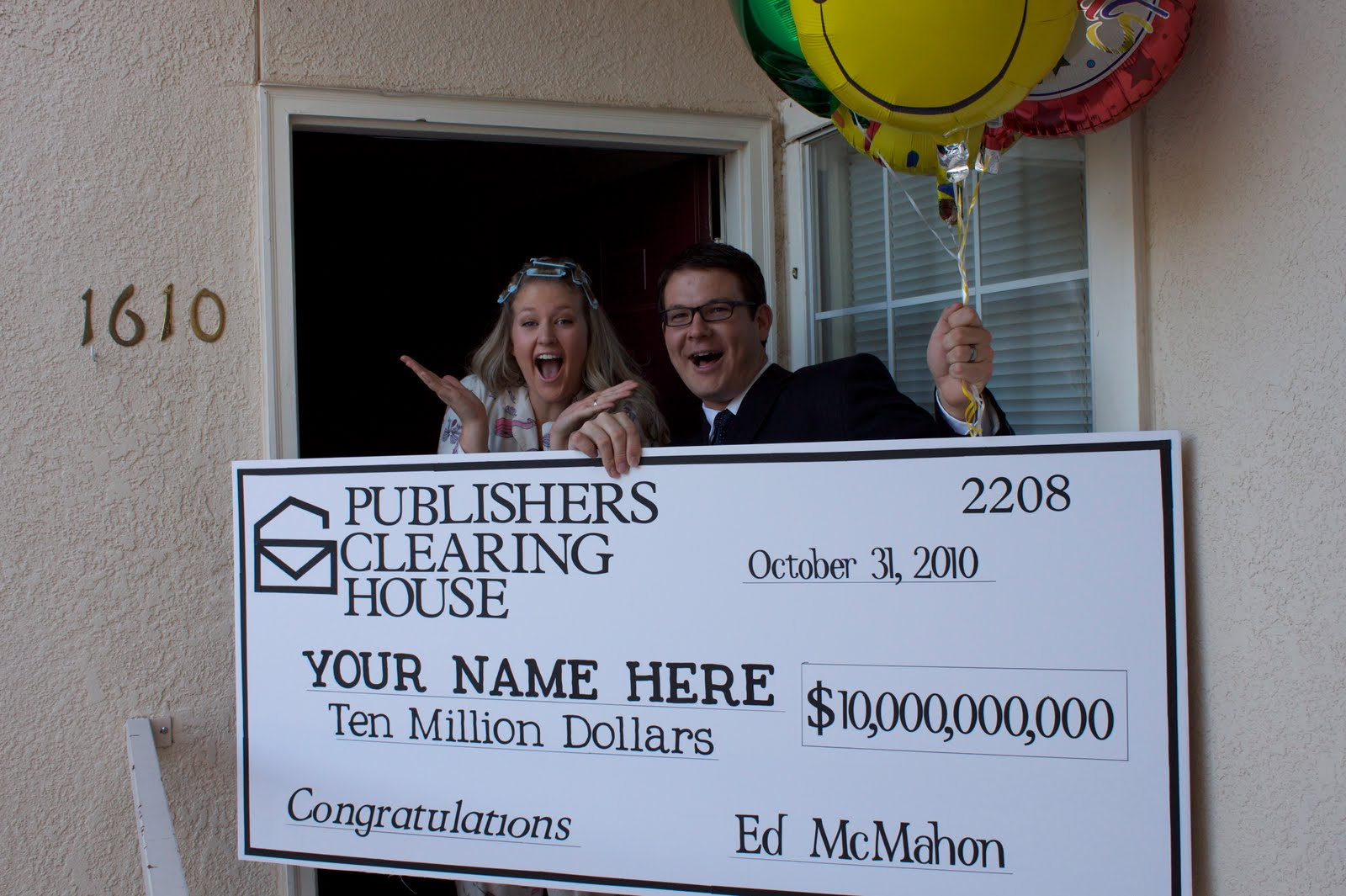 Publishers Clearing House Winner!