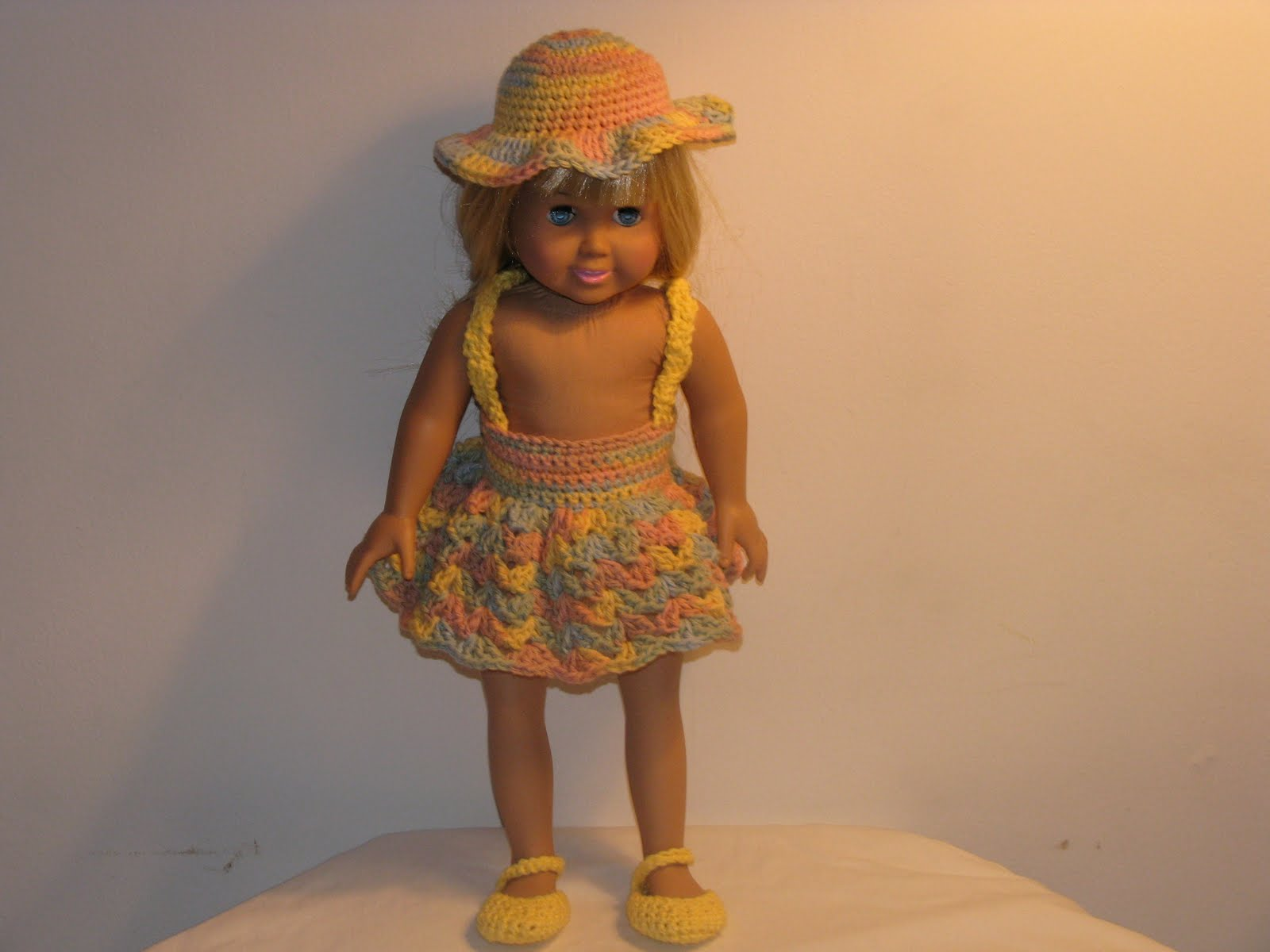Craft Attic Resources: American Girl Doll Crochet Sun Dress Crochet