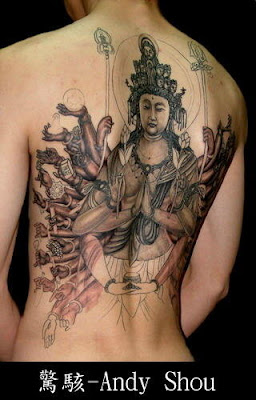 body art, tattoo design, Avalokiteshvar