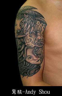 sea people tattoo on the arm