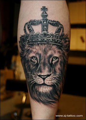 Lion king tattoo design