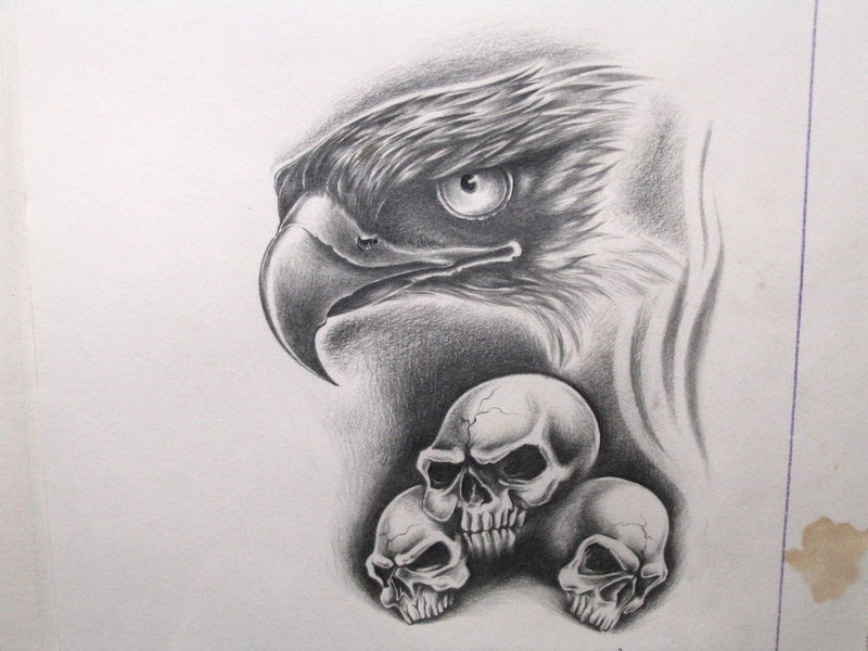 free tattoo designs eagle and skull tattoo flash. Black Bedroom Furniture Sets. Home Design Ideas