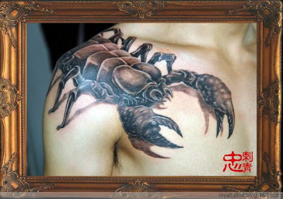 scorpion tattoo on the shoulder