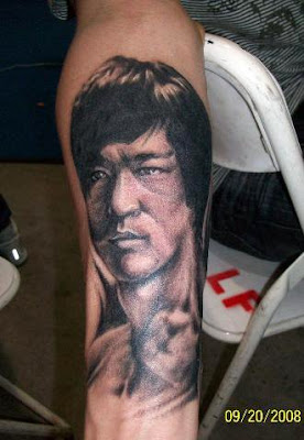 Bruce Lee tattoo design on the arm