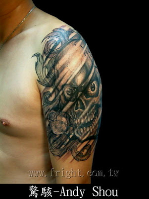 Tattoo Blog » Uncategorized » Josh Carlton skull tattoo picture
