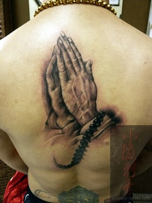 This free tattoo design is the Buddhist's version of keep fingers crossed.