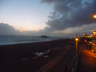 Brighton at dusk on a windy November day, 2009, image by Oliver Gozzard