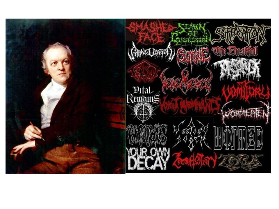 Rear View Death Metal Lyric Or William Blake Quote