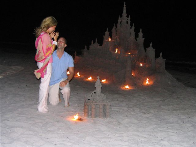 Cold night marriage proposal