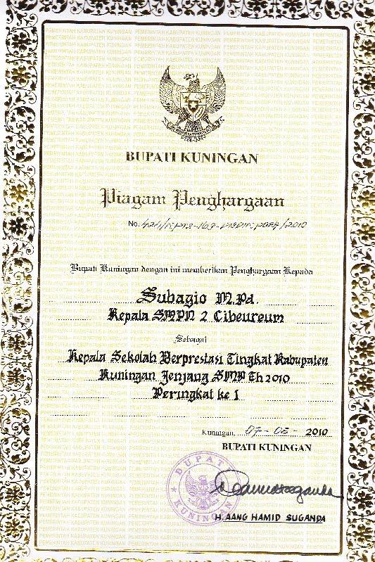 Contoh Piagam Penghargaan Untuk Siswa Tk