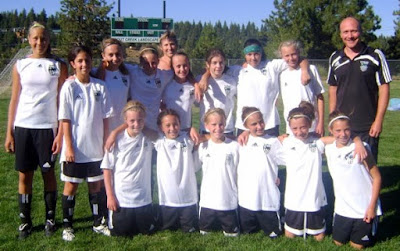 Truckee Pride girls soccer and coach Jason Matthews