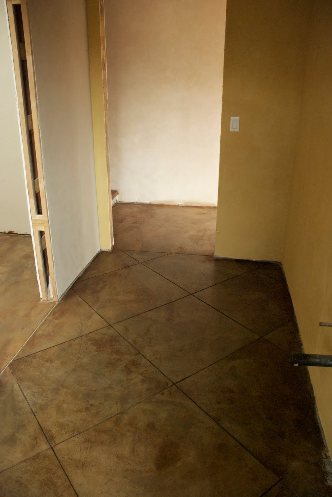 California homesteading our beautiful concrete floor for Concrete bathroom floor