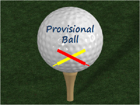 rules of golf when you may not play a provisional ball