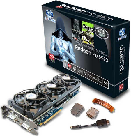 Sapphire Radeon HD5970 4G TOXIC Edition Graphics Card