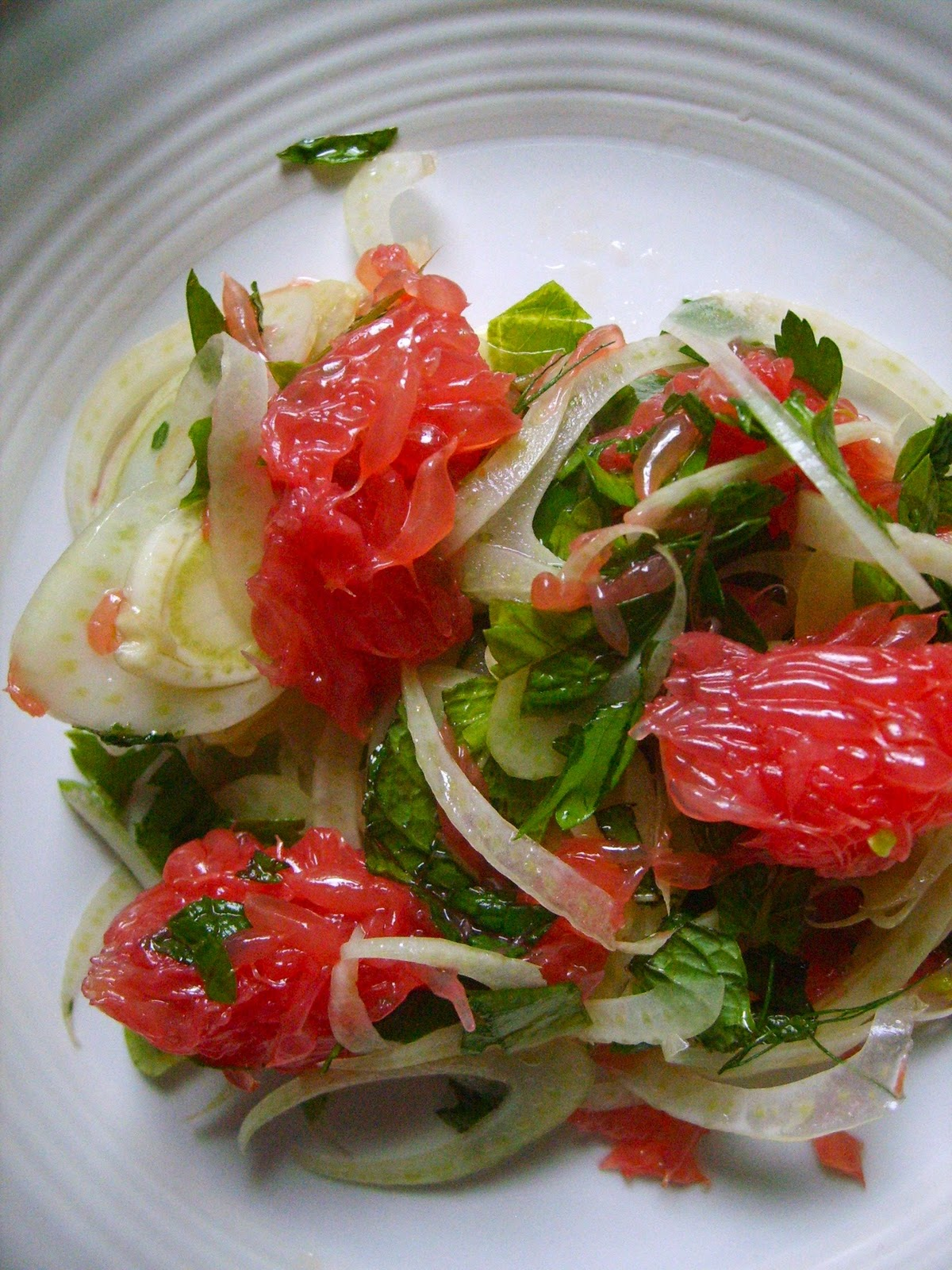 The Sisters Fierce: Grapefruit, Fennel and Herb Salad
