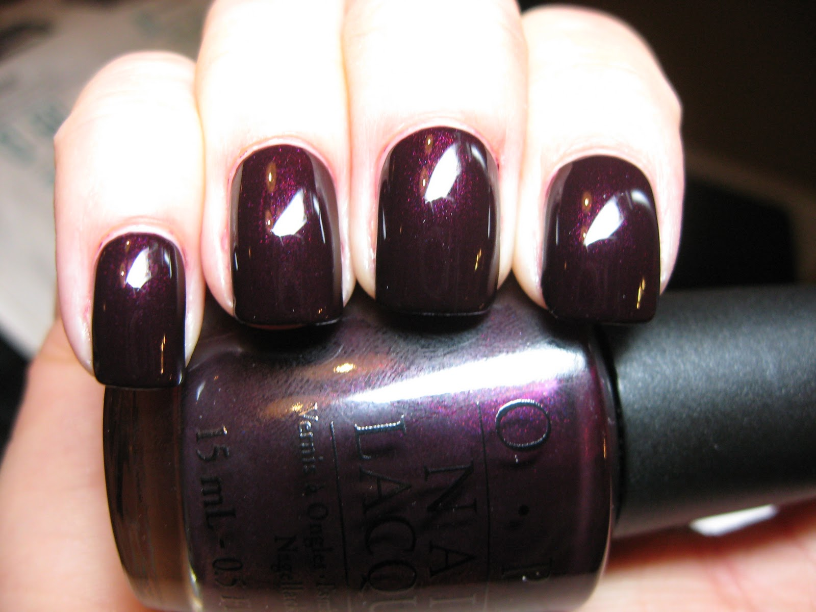Polished Casual: OPI Black Cherry Chutney