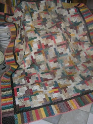 Scrap Quilt Log Cabin Variation