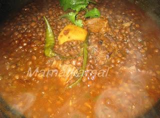 """Moroccan lentils """"La3dass"""" with beef  / Lentilles au boeuf à la marocaine 2"""