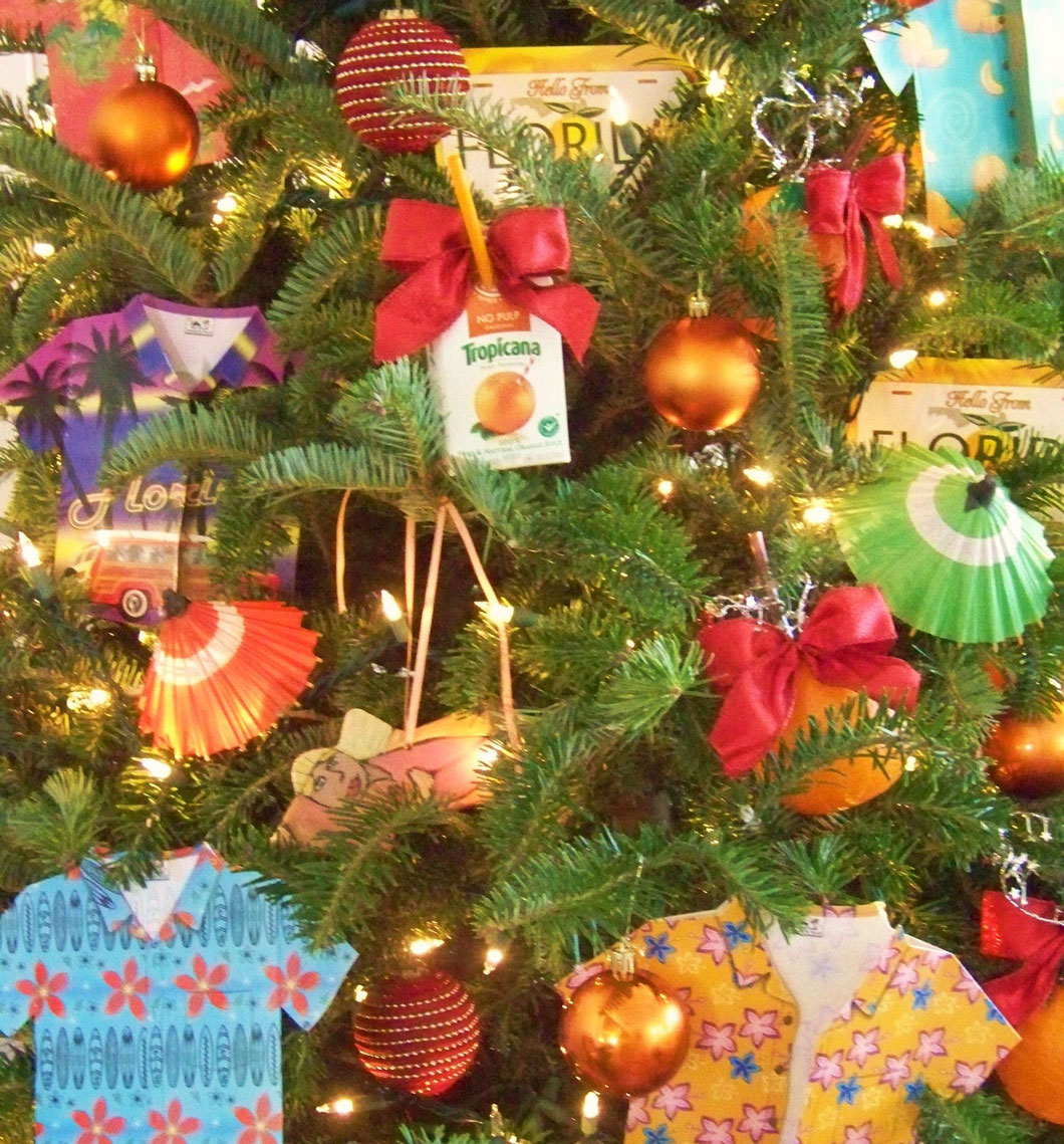 Florida christmas ornament - This Is The Quintessential Florida Christmas Tree From The Cartons Of Orange Juice