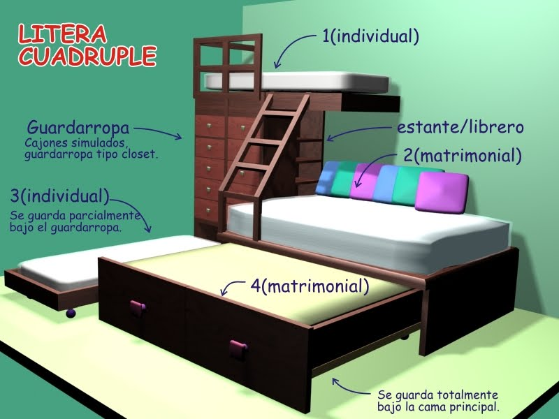 Habitables Modulares Litera De 6 Plazas