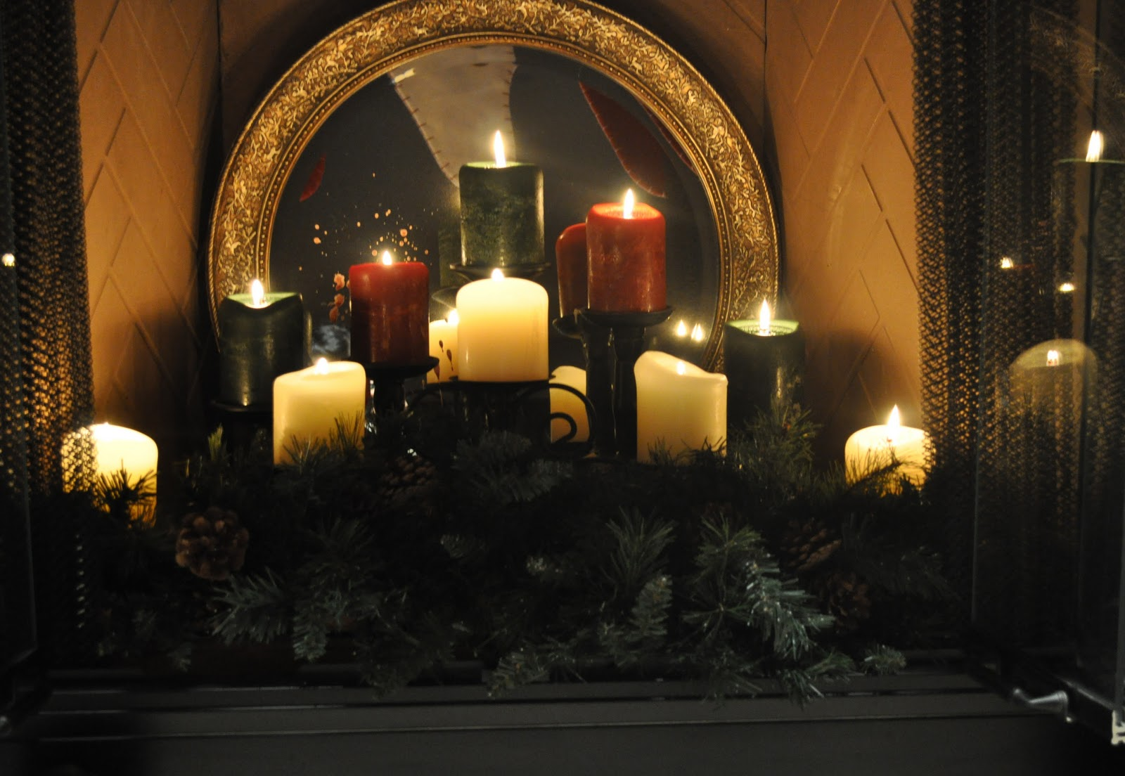 candle lit fireplace fireplace ideas