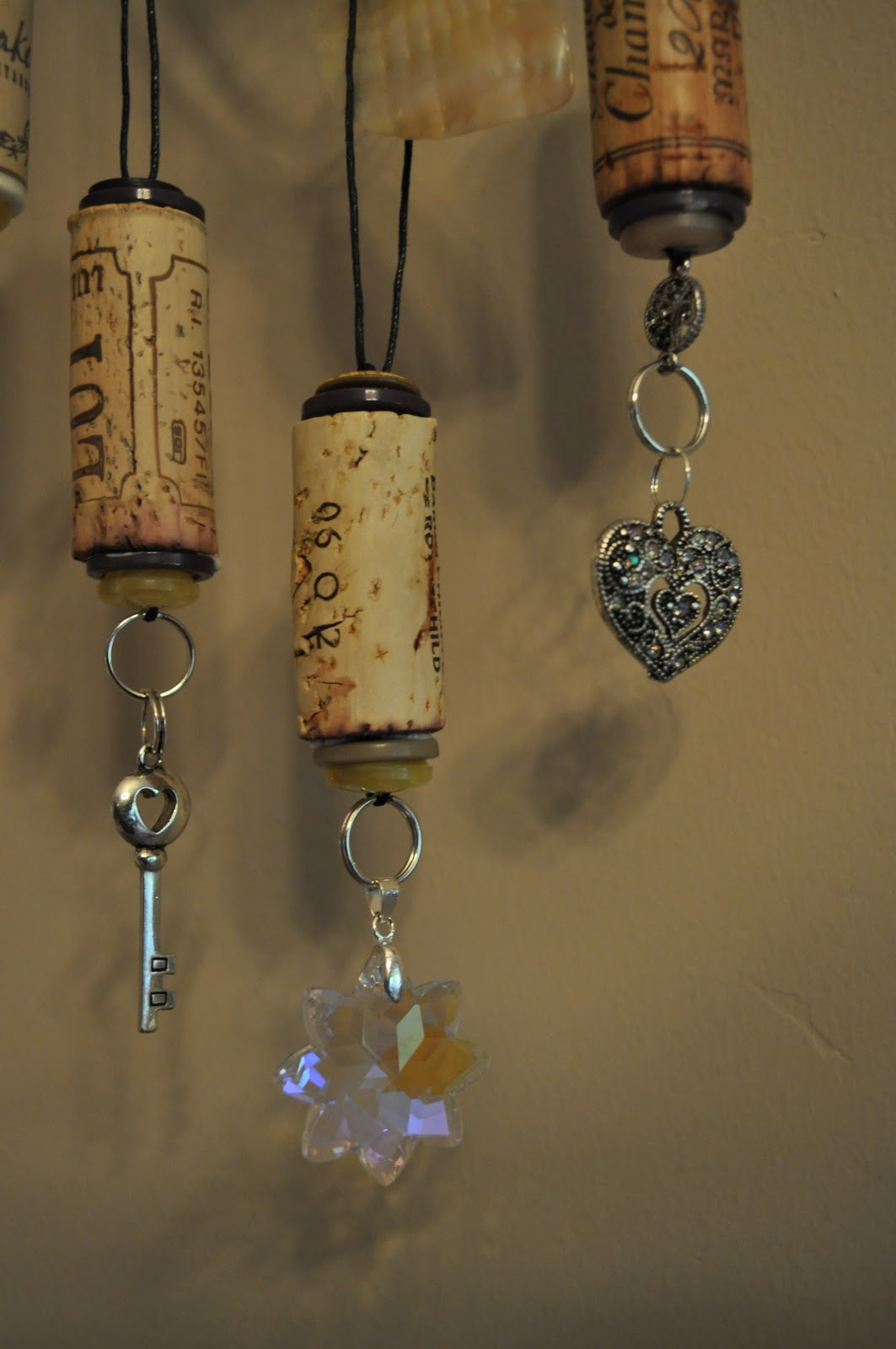 Lavender clouds wine cork ornaments for Crafts to make with wine corks