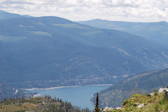 lake koocanusa from the top of webb mountain