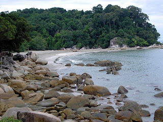 Beach near Kuantan city
