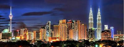 night skyline of capital