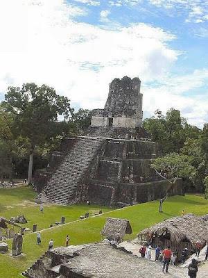 Maya temple ruins