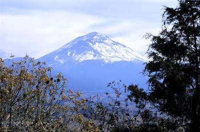 Popocatepetl view from Mexico city