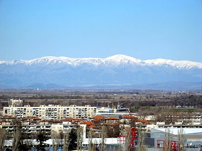 Polvdiv city wit Balkan view