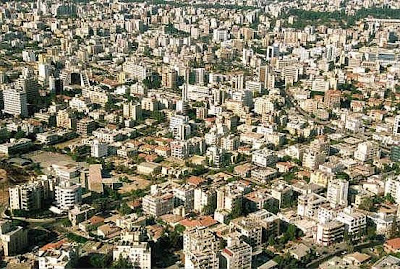 Aerial view of Nicosia