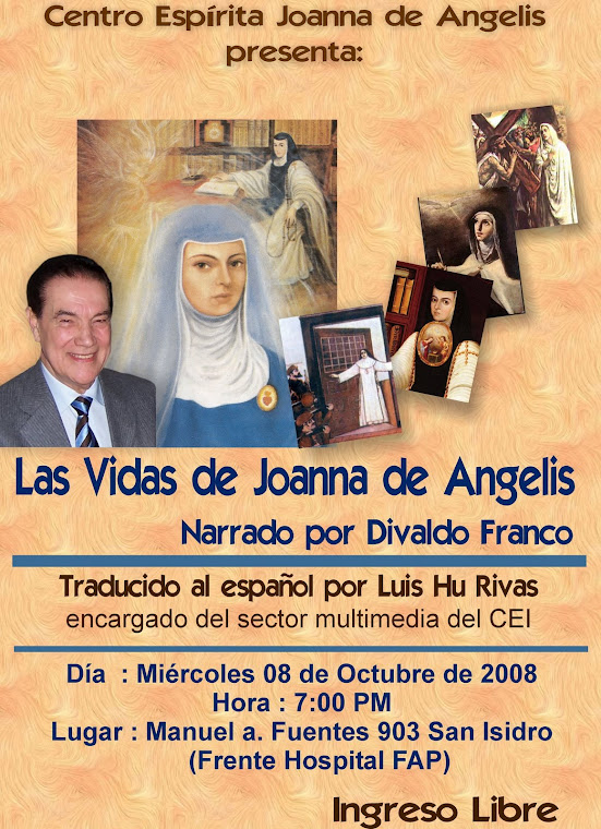 CONFERENCIA PÚBLICA: LAS VIDAS DE JOANNA DE ANGELIS EXPOSITOR: LUIS HU RIVAS