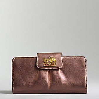 Coach Leather Madison Slim Envelope Wallet
