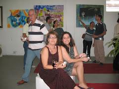 Alcilene e eu .Ao fundo nosso prefeito Sr. José Laerte