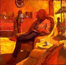 Tully's Girl Reading 40x40 oil