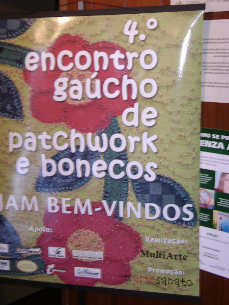 QUARTO ENCONTRO GACHO DE PATCHWORK E BONECOS