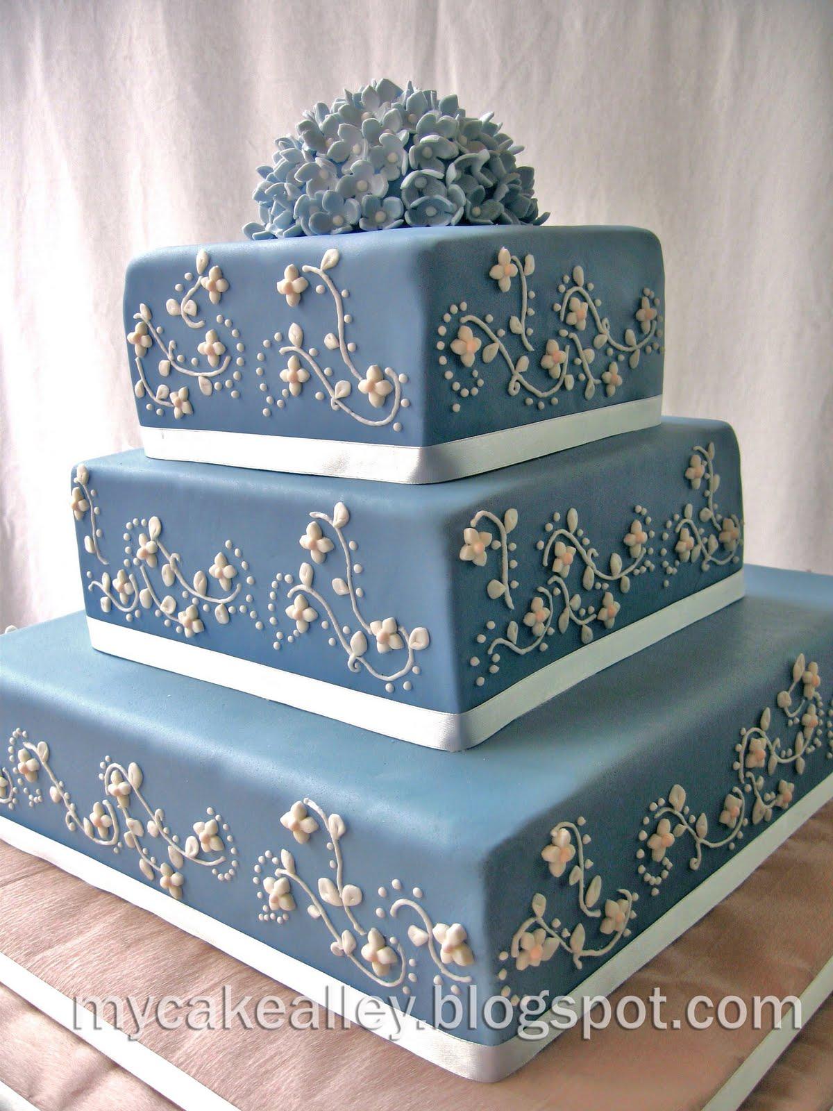My Cake Alley Blue Danube 3 tier Square Cake