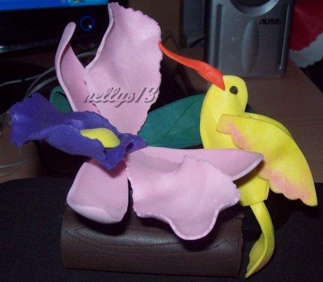 LAS MUÑECAS DE NELLYS...: Orquidea y pajarito