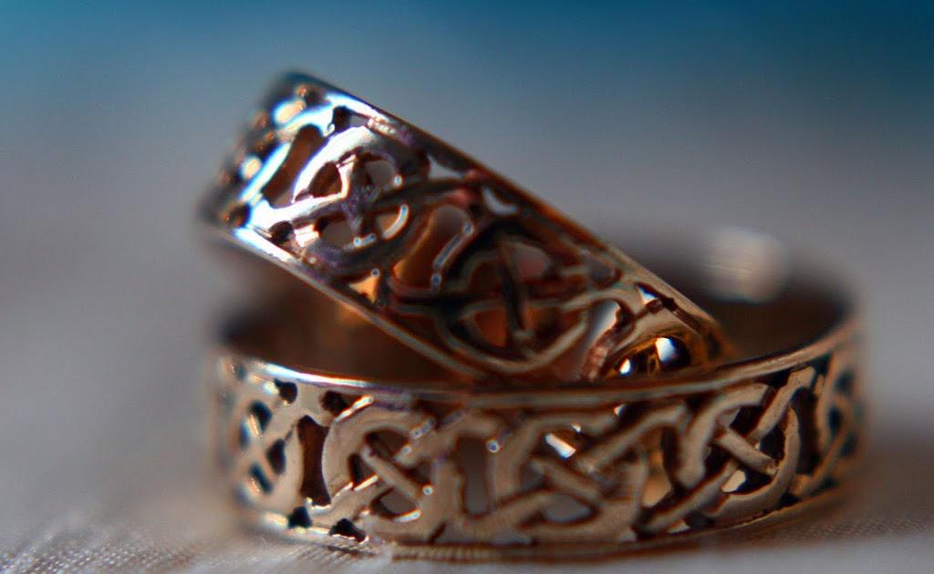 Sterling Silver Celtic Wedding Rings 45 Fancy