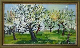 Яблуневий сад наварія 2002 р картон