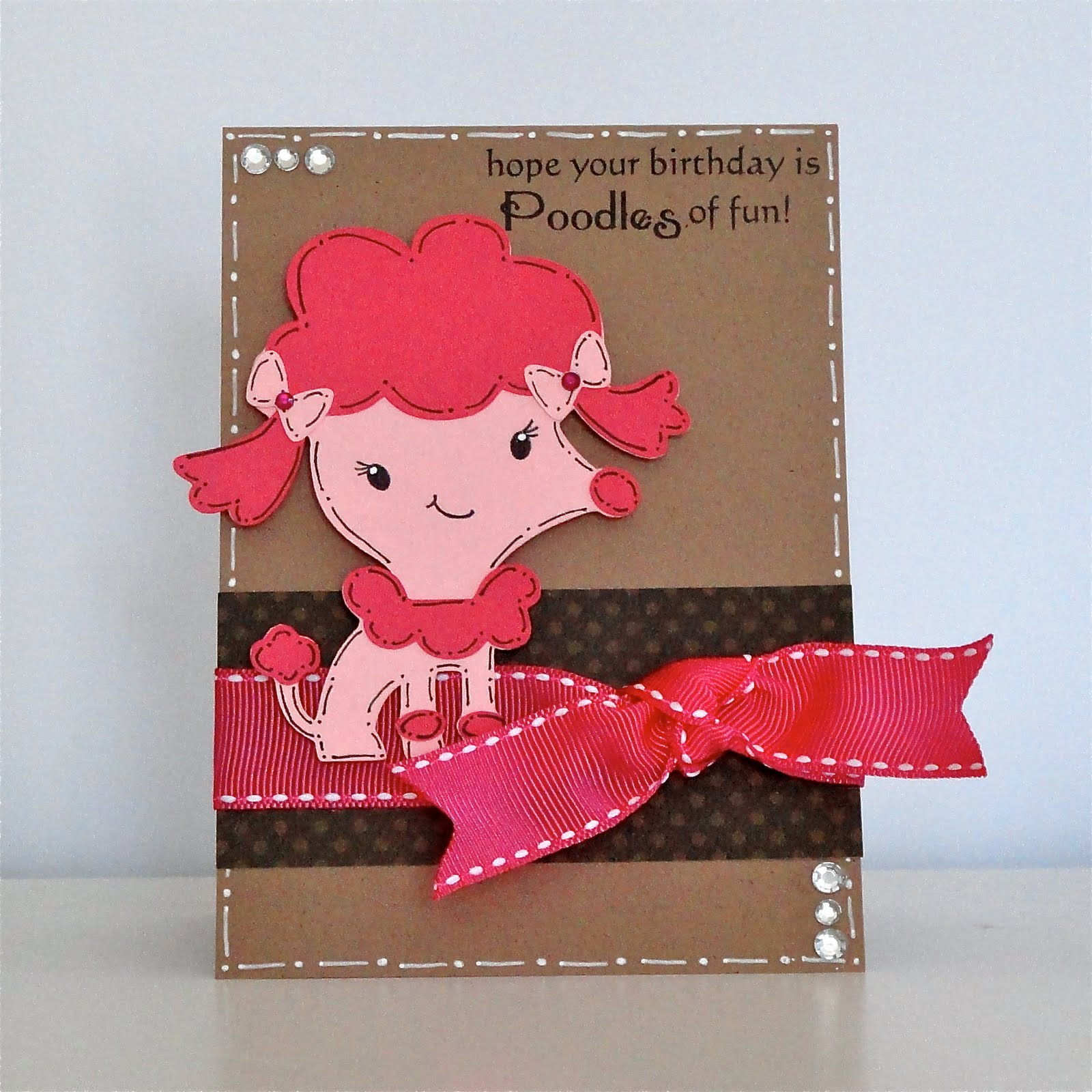 Poodle will be a good idea to make a cute card to dog s lovers