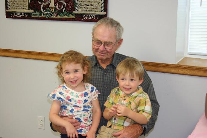 Grandpa Faber and some great-grandkids