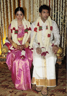 Jeyam Ravi Son Of Famous Editor Mohan Got Married To Aarthi Daughter Producer Sujatha Vijayakumar On June 4th 2009 The Wedding Ceremony Was Held
