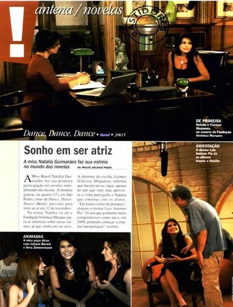 Natália fala sobre sua participaçao na novela dance dance dance (contigo)