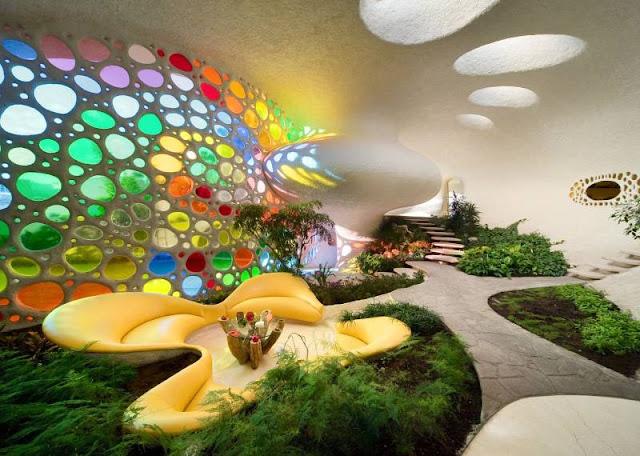 Interior garden (Sachin Tendulkar's New House)