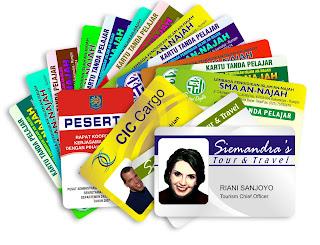 Jenis Kartu Untuk Pembuatan ID Card